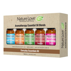 NATURE LOVE | Essential Oil Blend - 100% Natural - Five Pack
