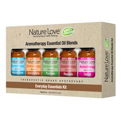 NATURE LOVE | Essential Oil Blend - 100% Natural - Five Pack