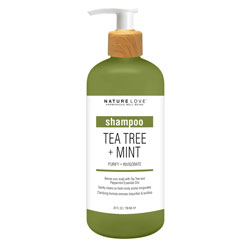 NATURE LOVE | Tea Tree + Mint - Shampoo, 25oz