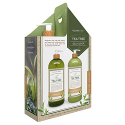 NATURE LOVE | Tea Tree - Shampoo/Conditioner, Duo, 32oz