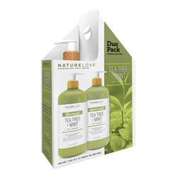NATURE LOVE | Tea Tree Mint - 2pk Shampoo Conditioner