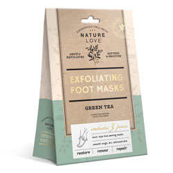 NATURE LOVE | Exfoliating Foot Masks - Green Tea