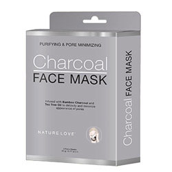 NATURE LOVE | Charcoal Face Mask - 5 pack