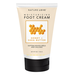 NATURE LOVE | Foot Cream - Honey + Shea Butter, 4oz