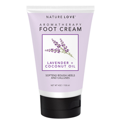 NATURE LOVE | Foot Cream - Lavender + Coconut Oil, 4oz