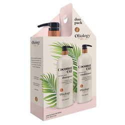 OLIOLOGY | Coconut Oil Shampoo & Conditioner Duo, 32 oz