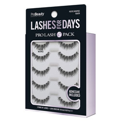 PRO BEAUTY ESSENTIALS | Faux Mink Lashes, Black / PetiteWispie - 5 Pack