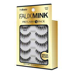 PRO BEAUTY ESSENTIALS | Faux Mink Lashes Wispies Black - 5 Pack