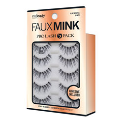 PRO BEAUTY ESSENTIALS | Faux Mink Black / GlamWispies - 5 Pack
