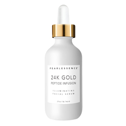 PEARLESSENCE | 24K Gold Facial Serum, Peptide Infusion - 2 oz.