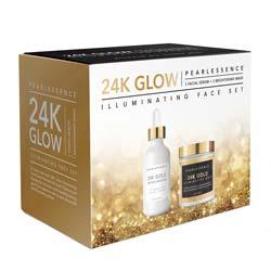 PEARLESSENCE   24K GLOW - Gold Infused Illuminating Face Kit