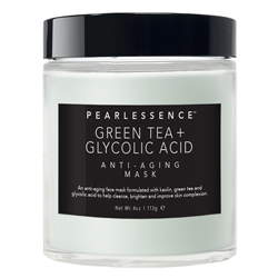 PEARLESSENCE | Anti-Aging Mask, Green Tea + Glycolic Acid - 4oz