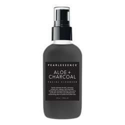 PEARLESSENCE | Facial Cleanser, Aloe + Charcoal - 4oz