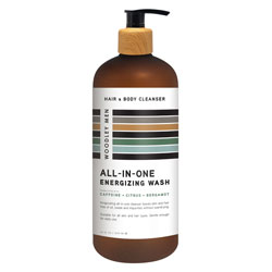 WOODLEY | ALL IN ONE ENERGIZING WASH - CITRUS - 34oz.