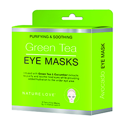 NATURE LOVE | Green Tea Eye Mask- 5 pack