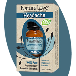 NATURE LOVE | Essential Oil Blend - 100% Natural - Headache 10ml